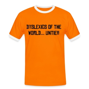 Dyslexic T Orange - Men's Ringer Shirt