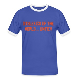 Dyslexic T Blue - Men's Ringer Shirt