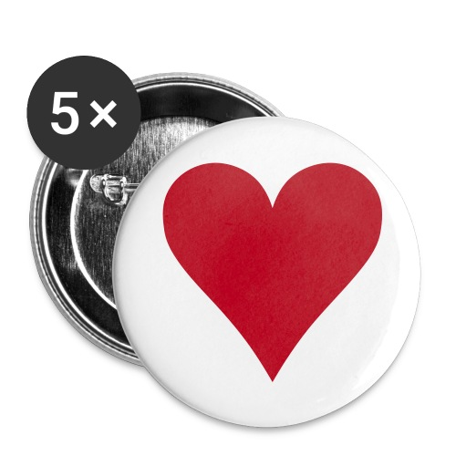 Heart Badges - Buttons small 25 mm