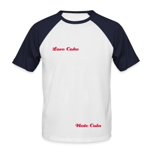 Love Hate - Diet - Men's Baseball T-Shirt