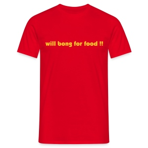Bong for Food - Yellow Gold  - Men's T-Shirt