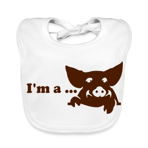 Baby Organic Bib - Little explanation needed. For your little piggy!