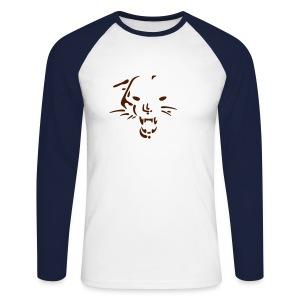 Whild cat - Mannen baseballshirt lange mouw