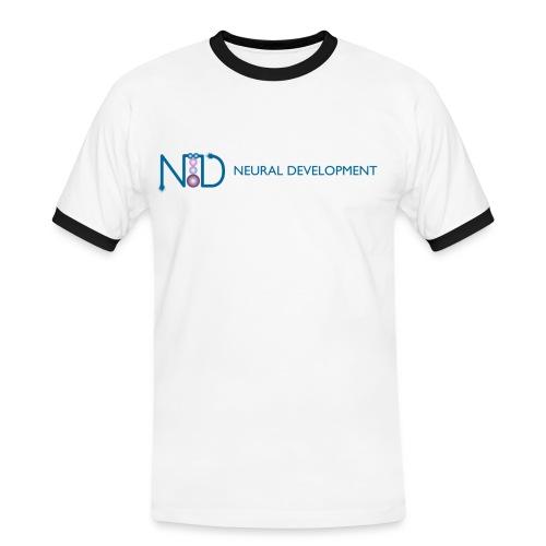 Neural Development (Men's Slim Contrast T) - Men's Ringer Shirt