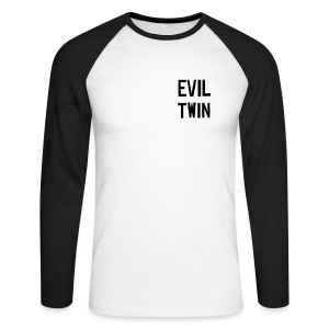 Evil Twin - Black - Men's Long Sleeve Baseball T-Shirt