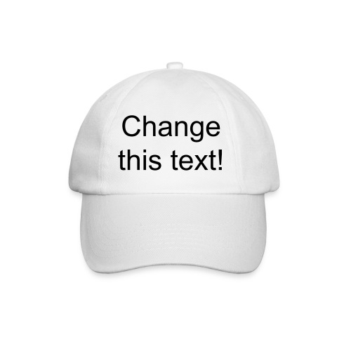 White cap - change the text - Baseball Cap