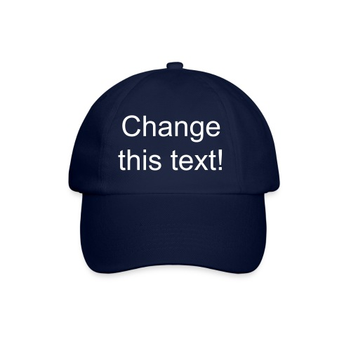 Blue cap - change the text - Baseball Cap