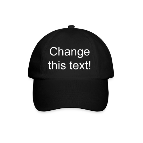 Black cap - change the text - Baseball Cap