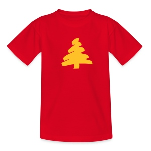 Kids TShirt: Tannenbaum. - Teenage T-shirt