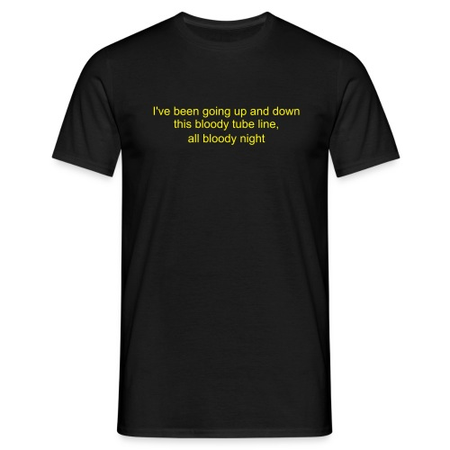 up and down the line - Men's T-Shirt
