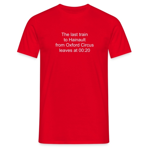 last train to hainault - Men's T-Shirt
