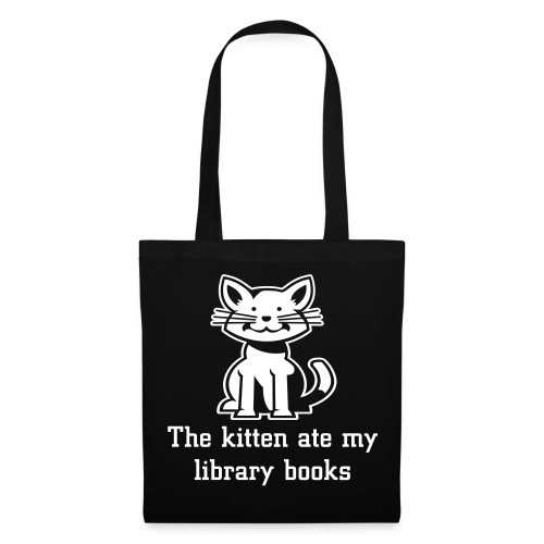 The kitten ate my library books black tote bag - Tote Bag