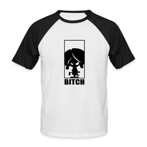 Bitch - Mannen baseballshirt korte mouw