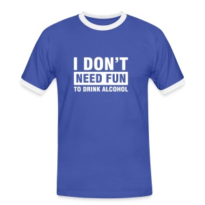 I don't need fun - Miesten kontrastipaita