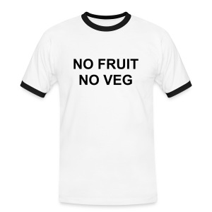 No Fruit/Veg (Mens) - Men's Ringer Shirt