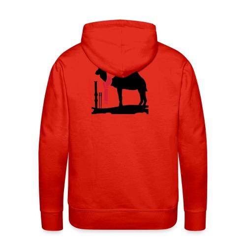 Felpa Camel Ski - Felpa con cappuccio premium da uomo
