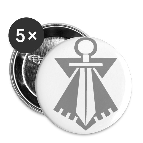 Badge FLB gris - Badge petit 25 mm