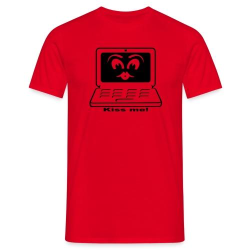Computer Kiss - Mannen T-shirt