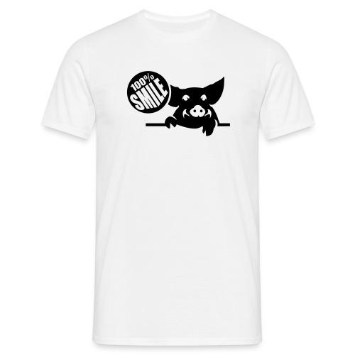 100% Smile - Mannen T-shirt