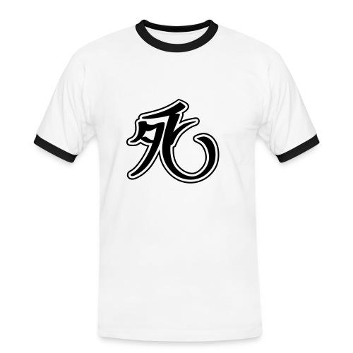 Zeichen - Männer Kontrast-T-Shirt