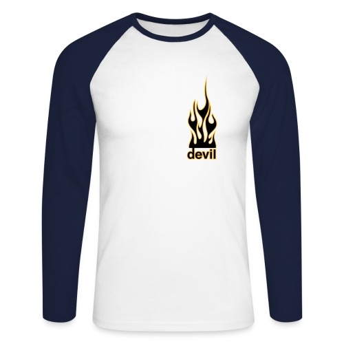 devil flame - T-shirt baseball manches longues Homme