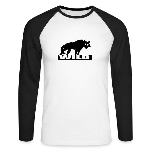 'Wild' Longsleeve T-Shirt - Men's Long Sleeve Baseball T-Shirt