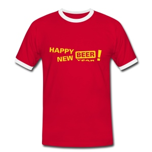 Kontrast-T-skjorte for menn
