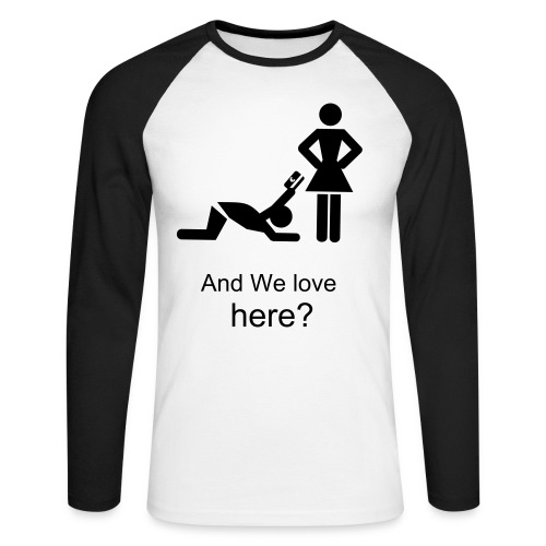 (men) And we love here? - Mannen baseballshirt lange mouw