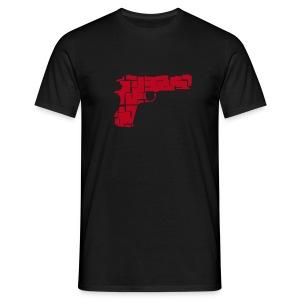 Pistole - Männer T-Shirt