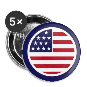 American Badges - Buttons small 25 mm