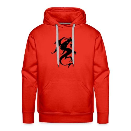 felpa kane style collection rossa - Felpa con cappuccio premium da uomo