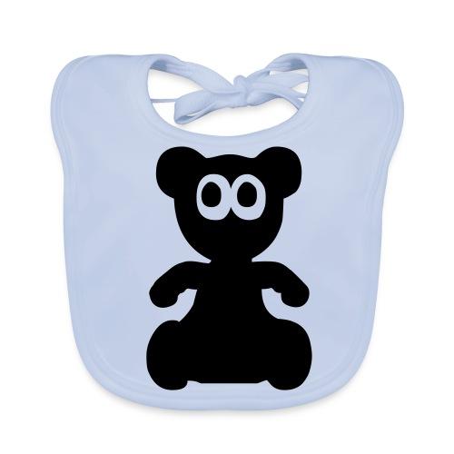 boys teddy bib - Baby Organic Bib
