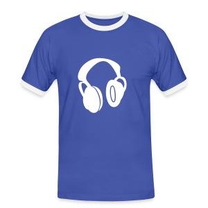 JU Headphone - Mannen contrastshirt