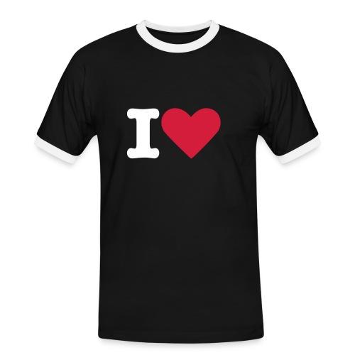 I L JU - Mannen contrastshirt