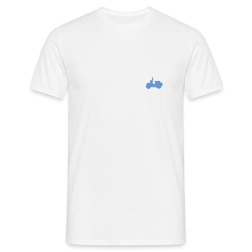 T-Shirt mit Schwalbe auf linker Brust (weiß/blau) - Männer T-Shirt