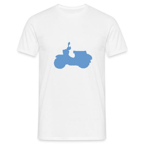 T-Shirt mit Schwalbe (weiß/blau) - Männer T-Shirt