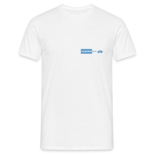 T-Shirt mit Schwalbennest-Logo auf linker Brust (weiß/blau) - Männer T-Shirt