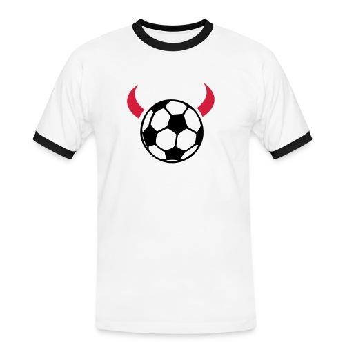 Soccer Devil - Kontrast-T-skjorte for menn