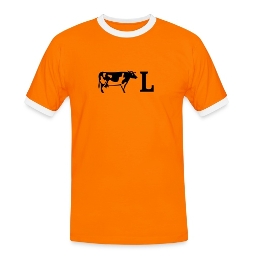 Koel Oranje - Mannen contrastshirt