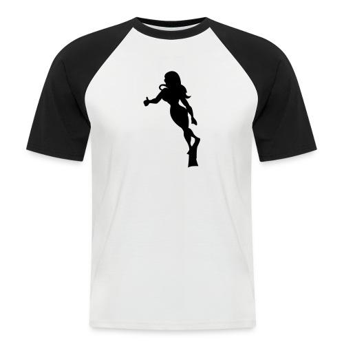 diving chick - Männer Baseball-T-Shirt