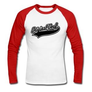 Original Deaf - Männer Baseballshirt langarm