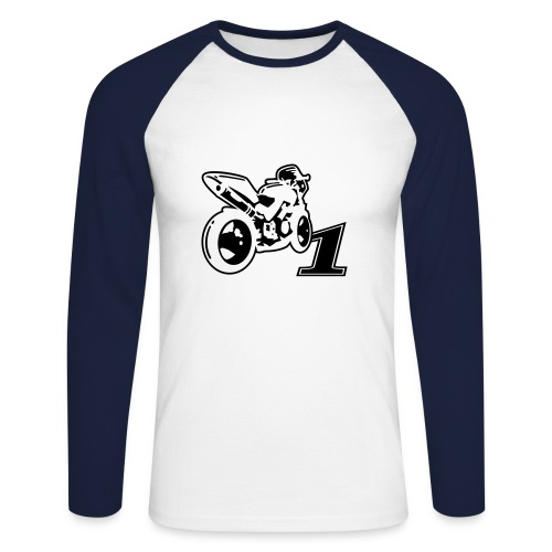 Maillot motorbike - T-shirt baseball manches longues Homme
