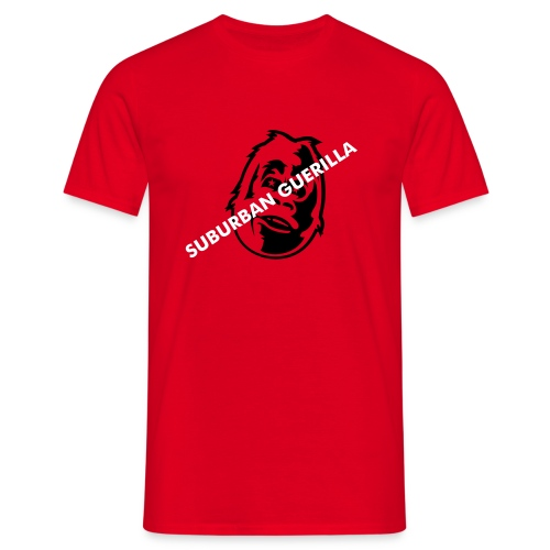 Suburban Guerilla Face - Red - Men's T-Shirt