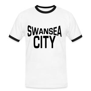 Swansea City - John Lennon Style - Men's Ringer Shirt