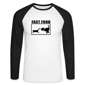 fast food ho - T-shirt baseball manches longues Homme