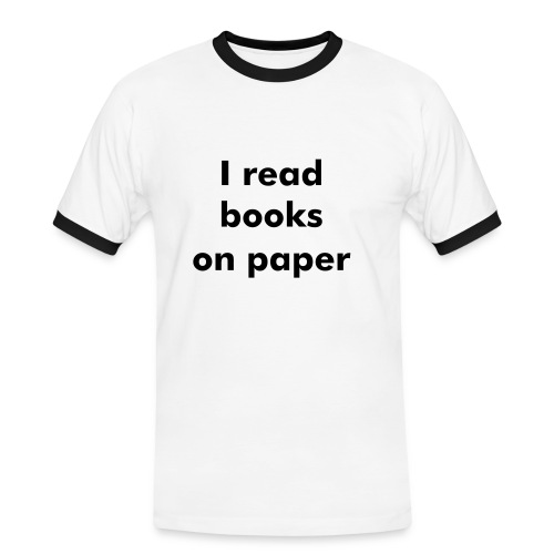 Books on paper - Women - Kontrast-T-shirt herr