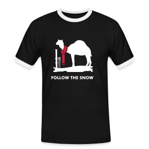 Follow the Snow Tee - Men's Ringer Shirt