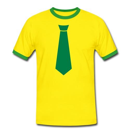 T-Tie shirt Geel/Groen - Mannen contrastshirt