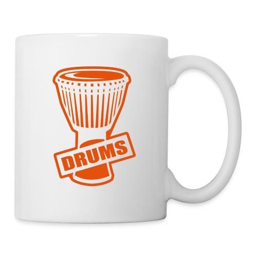 Mug Percu (orange) - Mug blanc