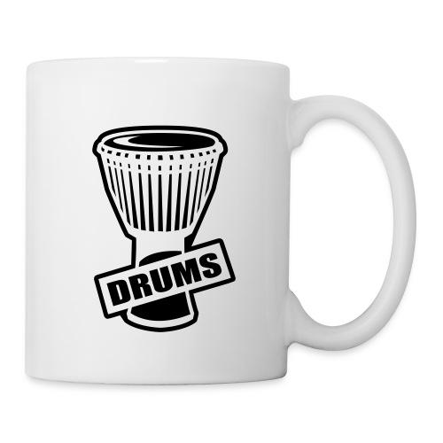 Mug Percu (noir) - Mug blanc